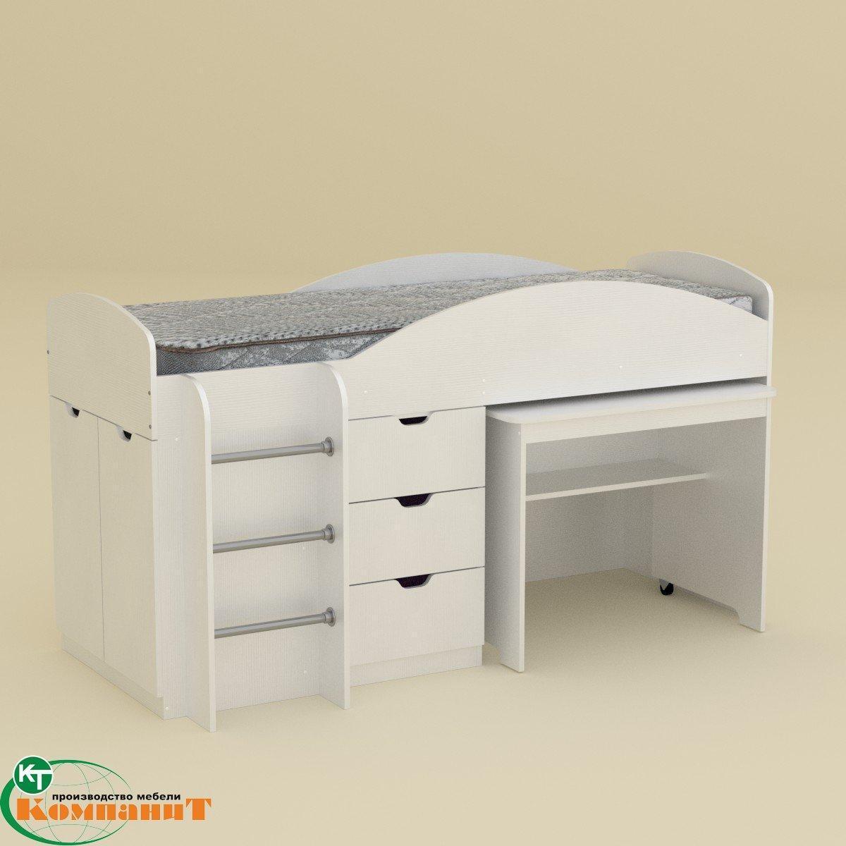 Кровать двухярусная Универсал нимфея альба