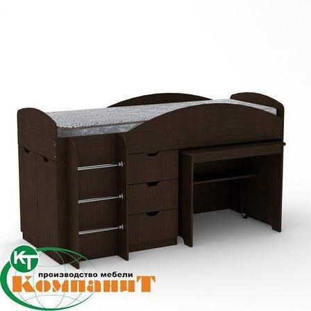 Кровать двухярусная Универсал венге, фото 2