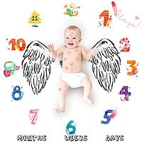 Фотопеленка для первых фотосессий малыша. Фотофон для новорожденного Ангелочек