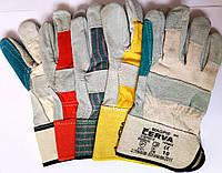 Перчатки спилок + х/б разные