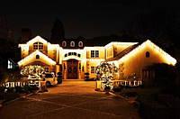 Подсветка деревьев, украшение елки, новогоднее оформление гирляндами, светодиодные гирлянды на елку