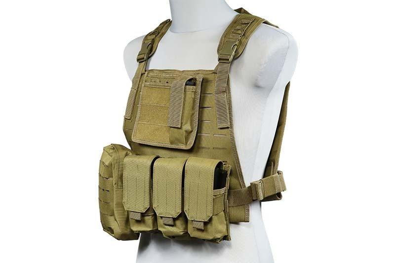 Жилет тактический (разгрузочный) типа MBSS (LaserCut) - Tan [GFC Tactical] (для страйкбола)