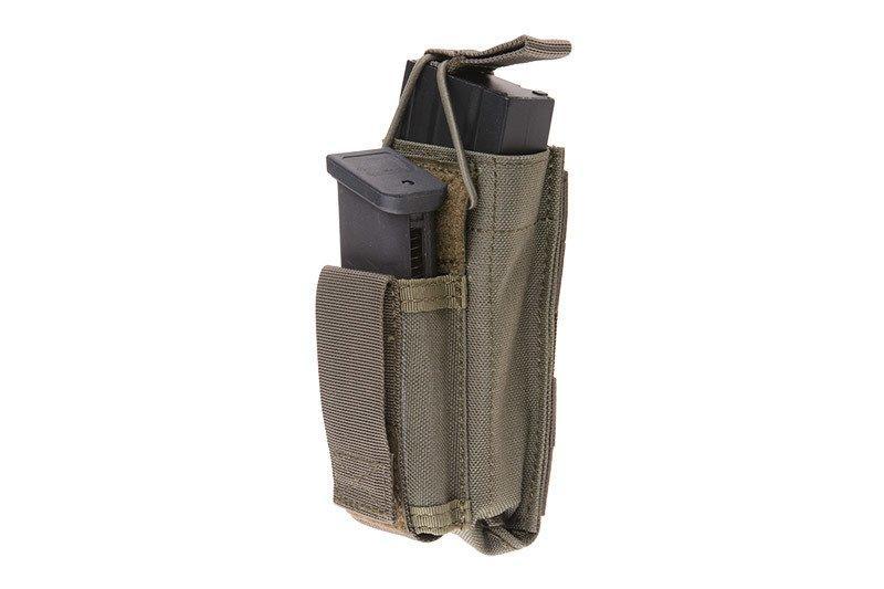 Одинарный подсумок Open Top для магазина M4/M16 + пистолетный - foliage green [Emerson] (для страйкбола)