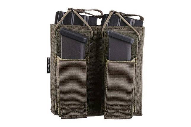 Двойной подсумок Open Top для магазинов M4/M16 + pistoletowe - foliage green [Emerson] (для страйкбола), фото 2
