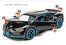 Коллекционный автомобиль Bugatti (черный), фото 4