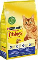 Сухой корм для стерилизованных кошек и котов Purina Friskies с лососем и овощами 10 кг