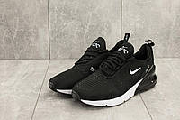 Весенние мужские кроссовки Nike Air Max 270 стильные молодженые качественные найки (черные), ТОП-реплика