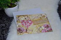 """Листівка з Аромо-саше """"З днем весілля"""" в конверті"""