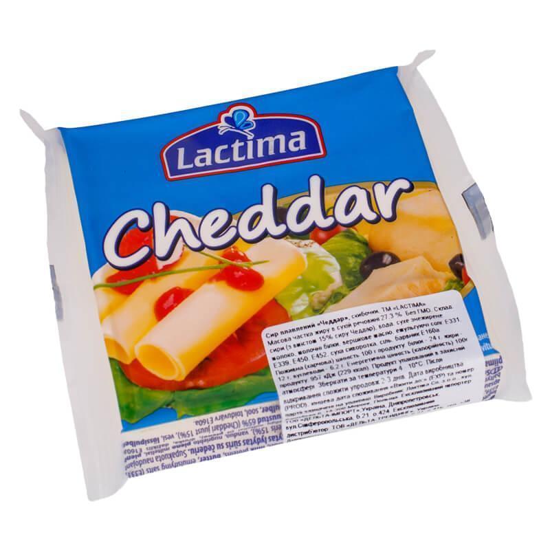 Сыр Lactima Cheddar 130 г. Польша