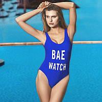 Женский сдельный купальник Bae Watch синий размер L
