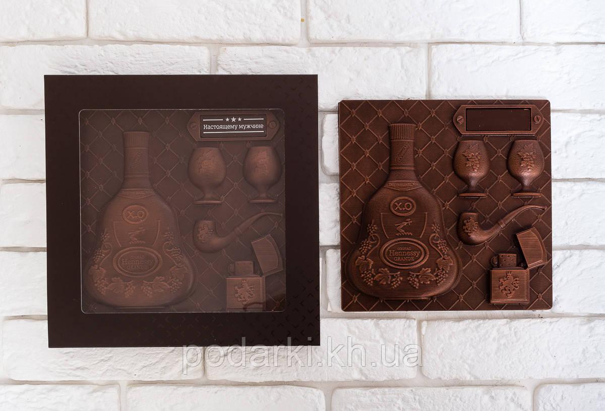 Шоколадный набор для парня Hennessy