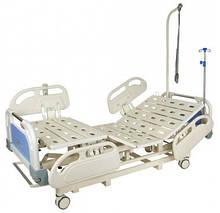 Кровать электрическая DB-3 Праймед (5 функций) с выдвижным ложементом и ростоматом CPR+аккумулятор с ростоматом
