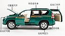 Коллекционный автомобиль Toyota Land Cruiser Prado (зеленый), фото 3