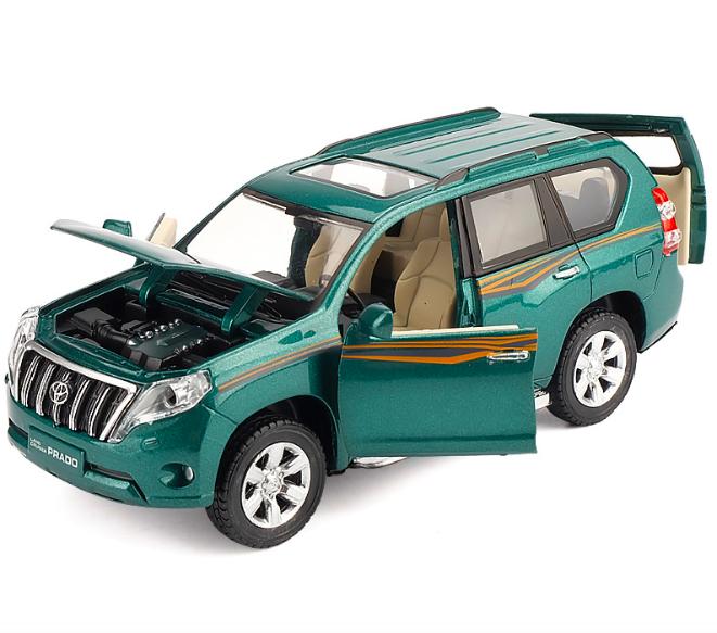 Коллекционный автомобиль Toyota Land Cruiser Prado (зеленый)