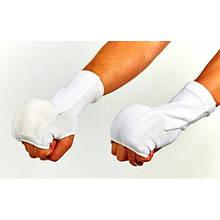 Накладки (рукавички) для карате (PL, бавовна, еластан, р-р S-XL, білий) NK-4