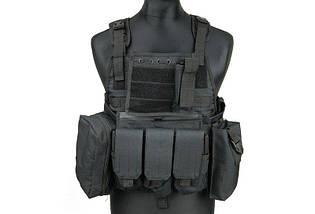 Разгрузка типа Plate Carrier - black [GFC Tactical] (для страйкбола), фото 2
