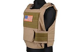 Жилет тактический (разгрузочный) Personal Body Armor - tan [GFC Tactical] (для страйкбола)