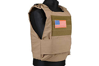 Жилет тактический (разгрузочный) Personal Body Armor - tan [GFC Tactical] (для страйкбола), фото 3
