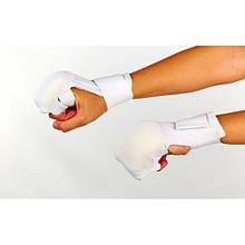 Накладки (рукавички) для карате (PL, р-р S-XL, білий) NK-6
