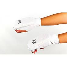 Накладки (рукавички) для карате ZEL (PL, р-р S-XL, білий) NK-12