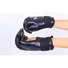 Рукавички для тхеквондо ITF DAEDO (PU, р-р S-L, чорний) NK-28