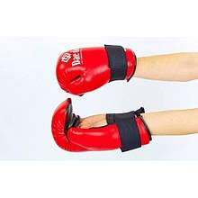 Рукавички для тхеквондо ITF DAEDO (PU, р-р S-L, червоний) NK-29