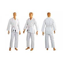 Кимоно для каратэ белое MATSA (хлопок, р-р 000-6 (110-190см), плотность 240г/м2) KR-1