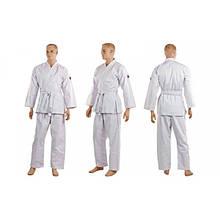 Кимоно для каратэ белое профессиональное NORIS (хлопок, р-р 1-6 (140-190см)) KR-3