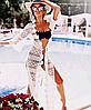 Длинная кружевная гипюровая пляжная туника-халат р. XS-M, фото 4