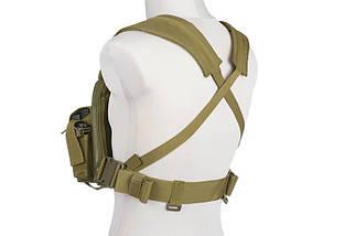 Жилет тактический (разгрузочный) Commander Chest Rig - olive [GFC Tactical] (для страйкбола), фото 2