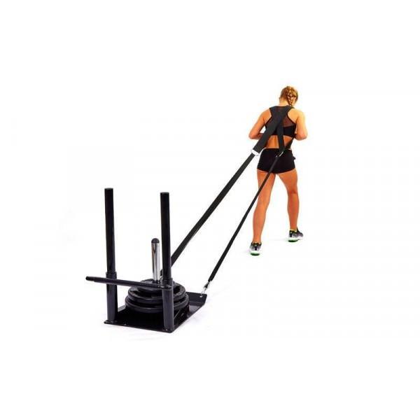 Сани тренировочные для кроссфита+петли ECONOMY SLED (металл, основание р-р 56х44см, h-80см) SJ-1