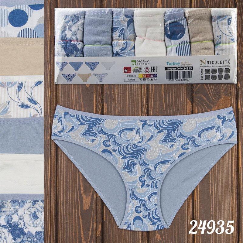 Трусы недельки мини-бикини женские узорные батальные Nicoletta Турция 24935