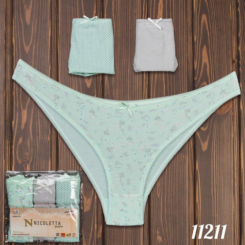 Трусы мини-бикини женские узорные Nicoletta Турция 11211