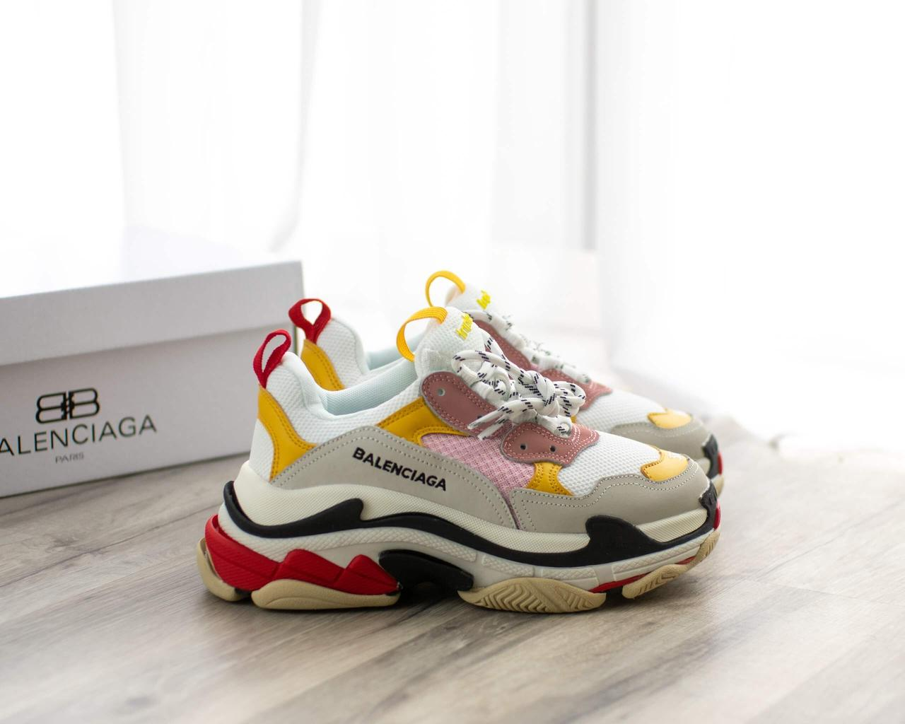 Кроссовки Balenciaga Triple S Grey White Yellow Black