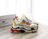 Кроссовки Balenciaga Triple S Grey White Yellow Black, фото 1