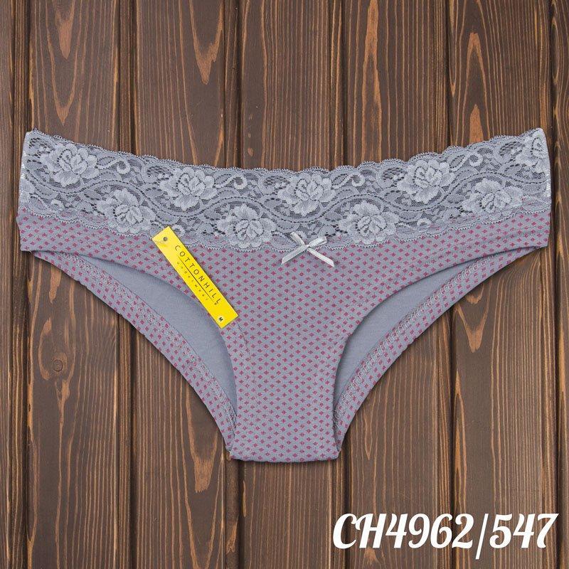 Трусы бикини женские с кружевной резинкой CottonHill Турция CH4962/547