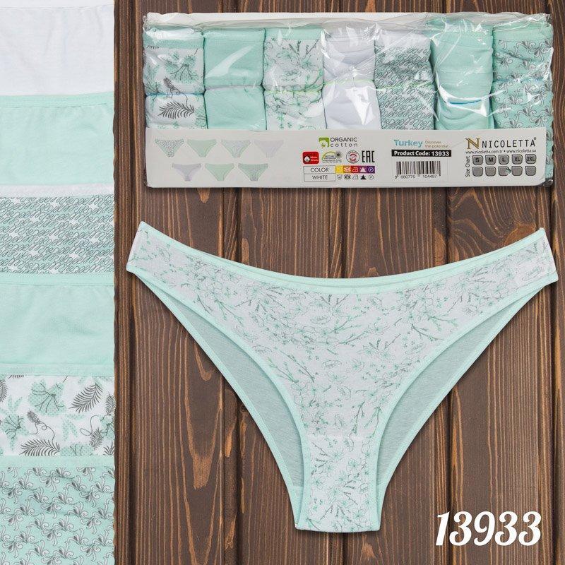 Трусы недельки мини-бикини женские узорные Nicoletta Турция 13933 | 7 шт.