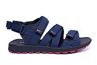 Мужские кожаные сандалии Nike Summer life blue (реплика), фото 1