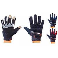 Мотоперчатки текстильные с закрытыми пальцами MAD BIKER (р-р L) PM-36