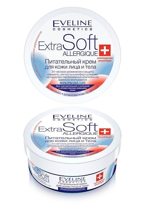 Крем для лица и тела для чувствительной кожи Extra Soft Allergique Eveline Cosmetics, Эвелин 200 мл