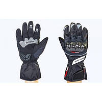 Мотоперчатки теплые текстильные с закрытыми пальцами и протектором MADBIKE (р-р M-XL) PM-77