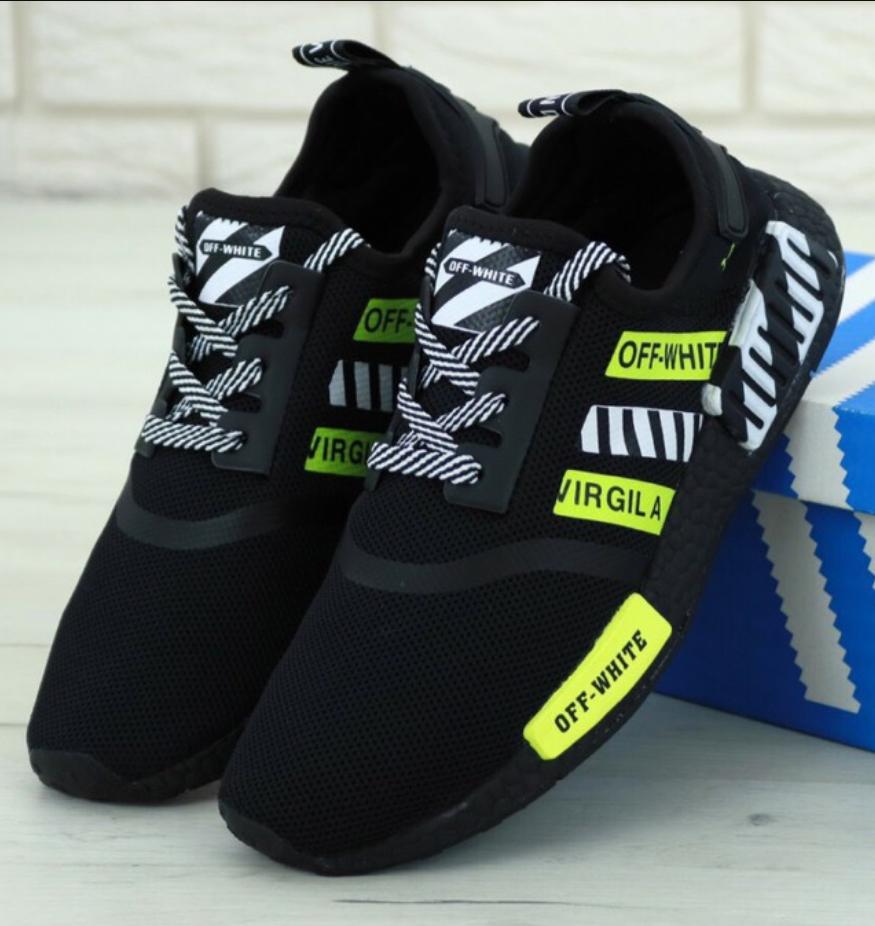 Мужские кроссовки Off-White Adidas NMD Black