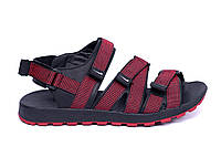 Мужские кожаные сандалии Nike Summer life Red (реплика)