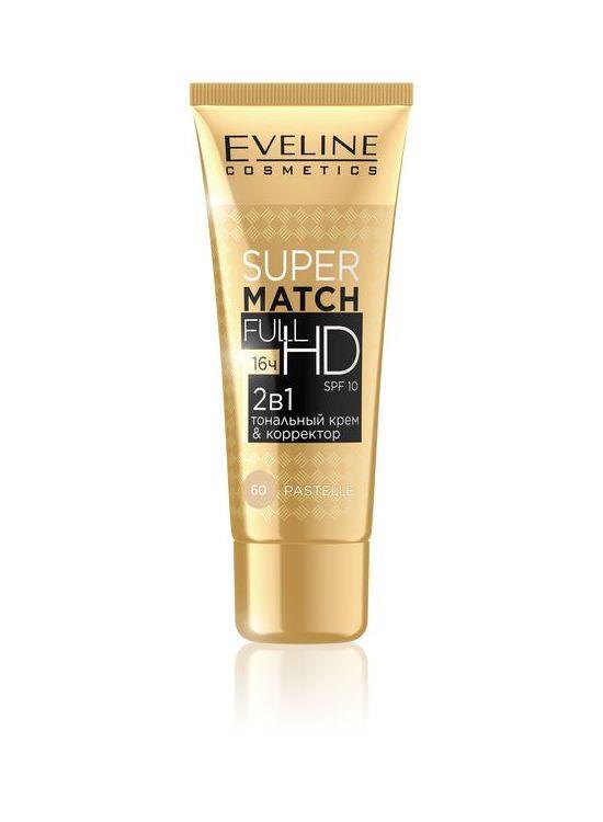 Тональный матирующий крем & корректор Super Match Full HD 2в1 pastel № 60, Eveline Cosmetics, 30 мл Эвелин