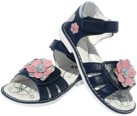 Детские кожаные босоножки для девочки Clibee Польша размеры 26-31