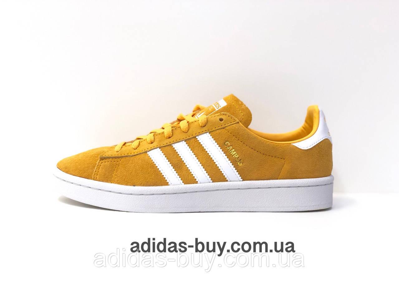 0d46e6b1071408 Кеды кроссовки оригинал adidas CAMPUS AQ1071 женские повседневные из замша  цвет: оранжевый/ жёлтый