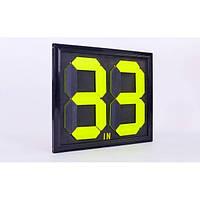Табло замены игроков 2x2 (металл, пластик, двухсторонее, универсальное) IF-36
