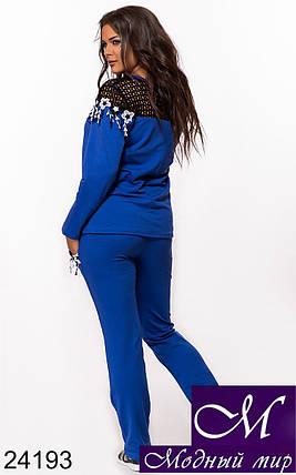 Стильный спортивный костюм больших размеров разные цвета (р. 48, 50, 52, 54) арт. 24193, фото 2