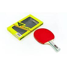 Ракетка для настольного тенниса 1 штука в цветной коробке Дубл. BUT Addoy-D (WAKABA-15280-FL) TR-32