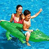 Детский надувной плотик для катания Intex 58546 Крокодил 168 х 86 см, фото 6
